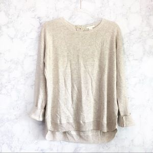 H&M oversized oatmeal color sweater size small